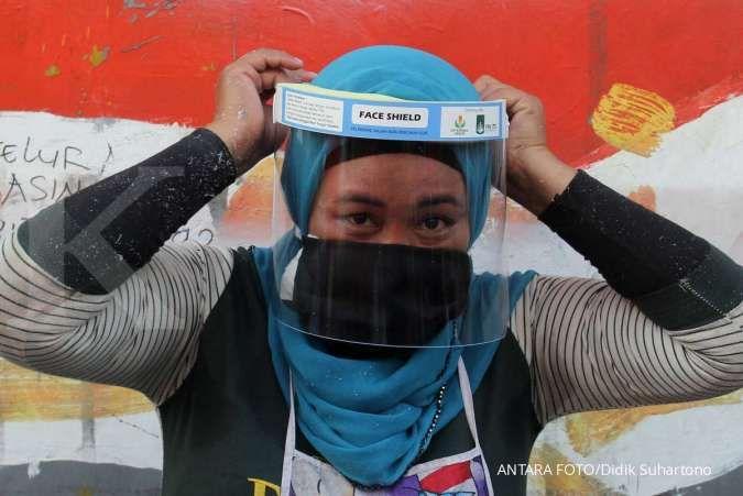 Mengenakan face shield tanpa masker, perlindungan terhadap Covid-19 tak maksimal