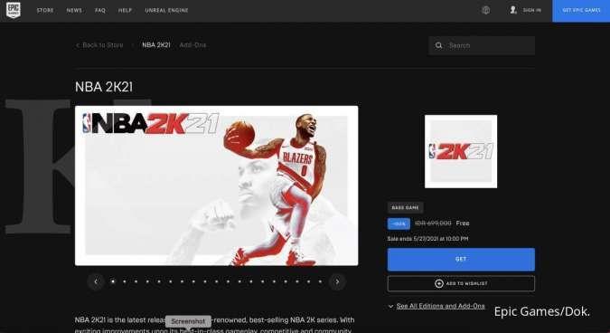 Pengguna Epic Games bisa klaim game NBA 2K21 gratis, begini cara klaimnya