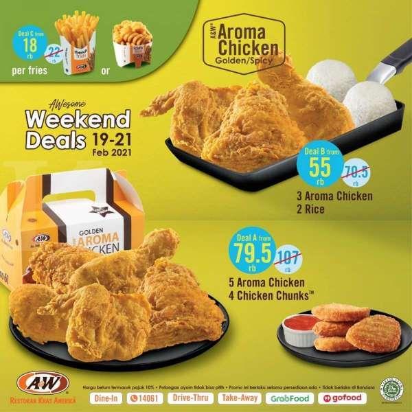 Promo A&W 19-21 Februari 2021, beragam paket menu mulai Rp 18.000