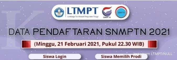 pendaftaran snmptn 2021