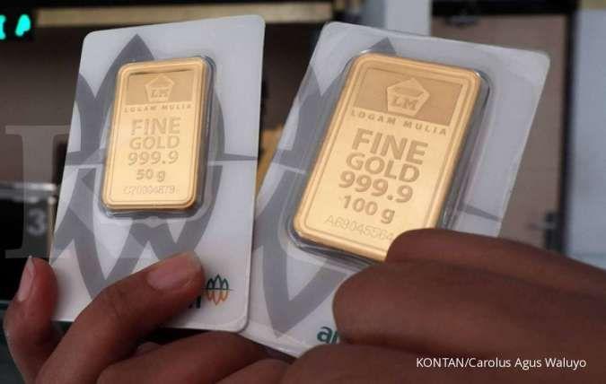 Harga emas Antam naik 12,14% sepekan, cuan investor cuma 1,33%, kok bisa?