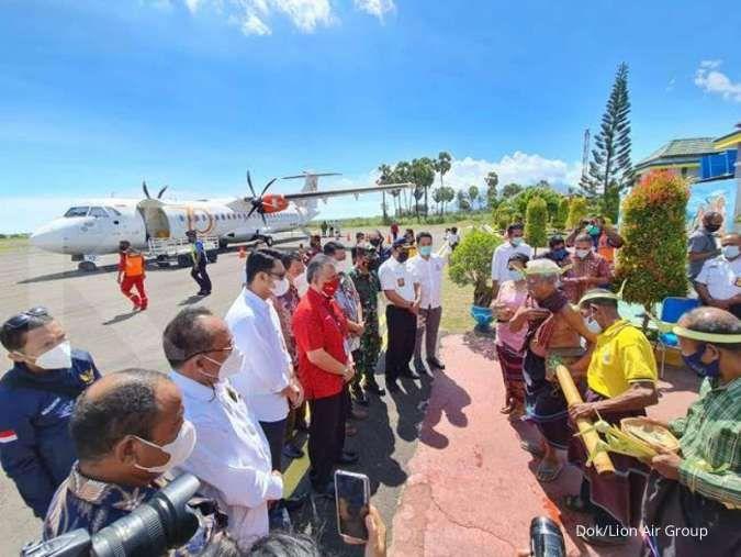 Wings Air resmikan penerbangan perdana dari Kupang ke Lewoleba NTT