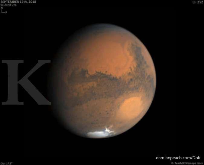 Saat ini, Planet Mars berada pada posisi terlihat paling besar dan terang