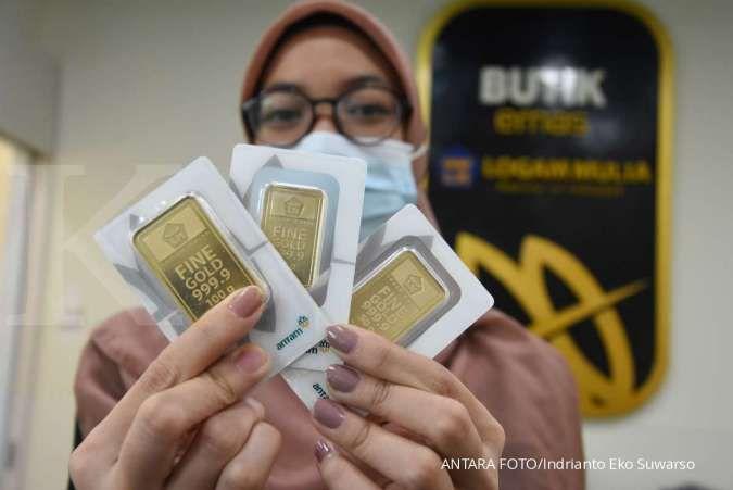 Harga emas 24 karat Antam hari ini tetap Rp 1.028.000 per gram, Senin 3 Agustus 2020