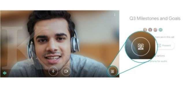Google Meet web - cara mengganti background; Credit: Google
