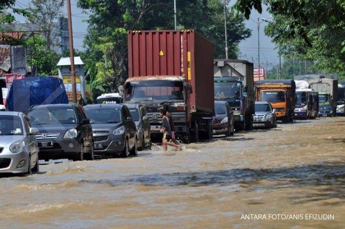 Sebanyak 70 desa di Kabupaten Kendal, Jawa Tengah, terendam banjir