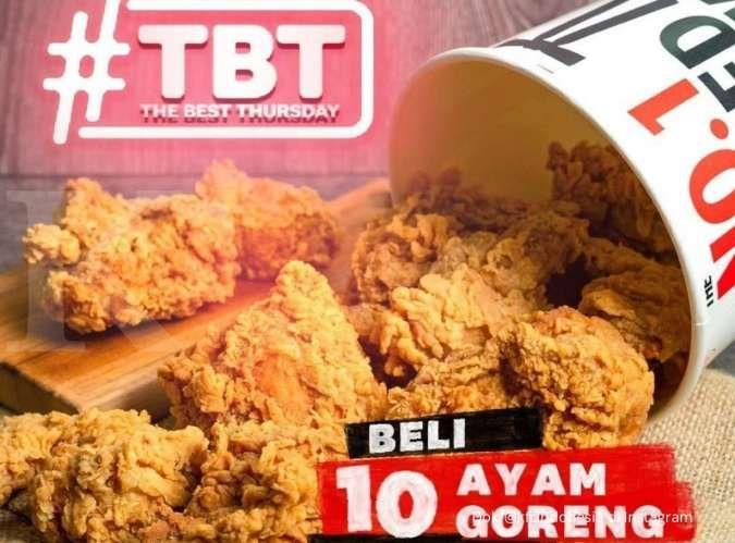Promo KFC terbaru 5 Agustus 2021, The Best Thursday 10 ayam goreng hanya Rp 90 ribuan