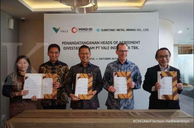 Berhasil terbitkan global bond, Inalum (MIND ID) siap akuisisi Vale Indonesia (INCO)