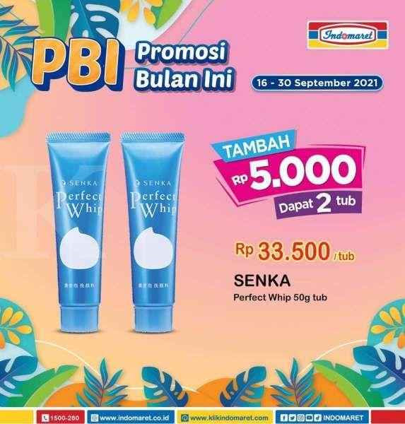 Promo Indomaret Terbaru 16-30 September 2021, Tambah Rp 5000 Dapat 2 Sabun Muka Senka