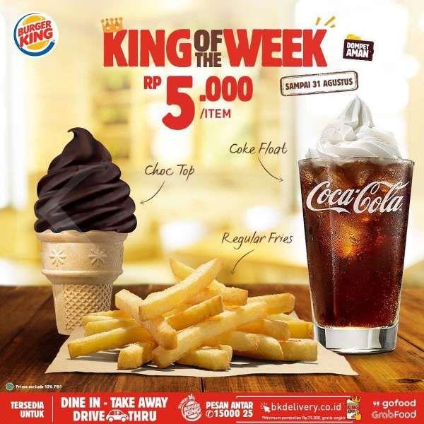 Promo Burger King sampai 31 Agustus 2020
