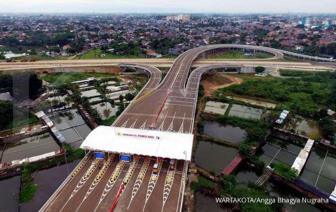 Sebanyak 525.000 kendaraan melintasi jalan tol Serpong-Cinere ruas Serpong-Pamulang