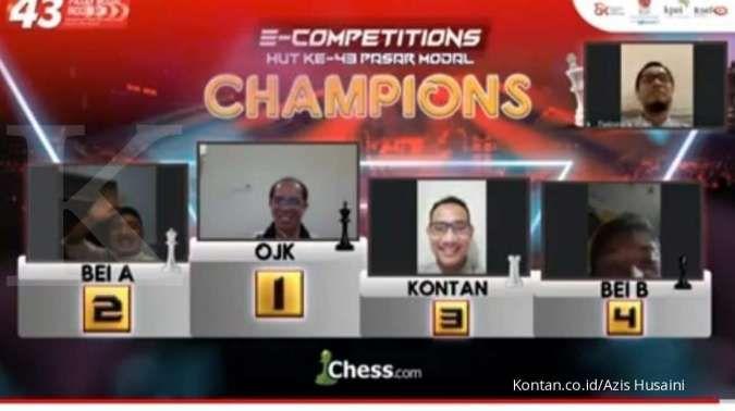 Sengitnya kompetisi catur online Pasar Modal, Media KONTAN berhasil rebut Juara III