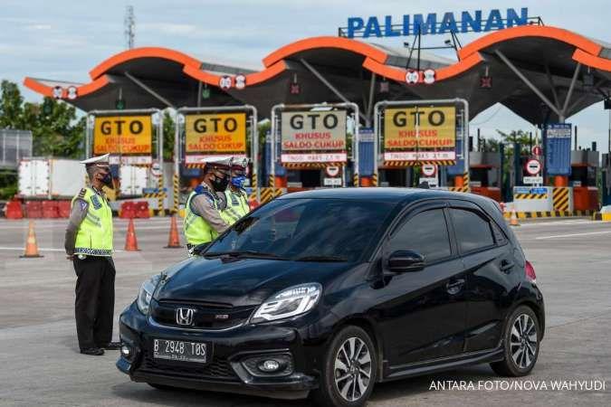 Pintu tol Palimanan Cirebon terpantau sepi sehari jelang lebaran