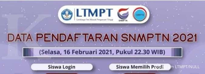 Simak update jumlah siswa yang mendaftar SNMPTN 2021 dari LTMPT
