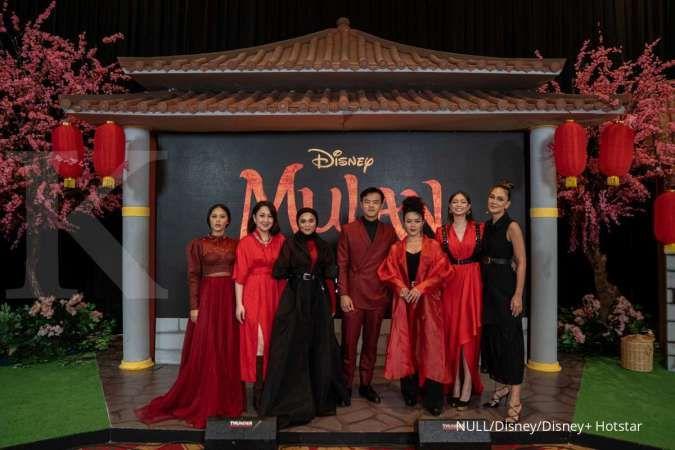 Para artis ternama Indonesia dalam jumpa pers film Mulan yang akan tayang di Disney+ Hotstar.