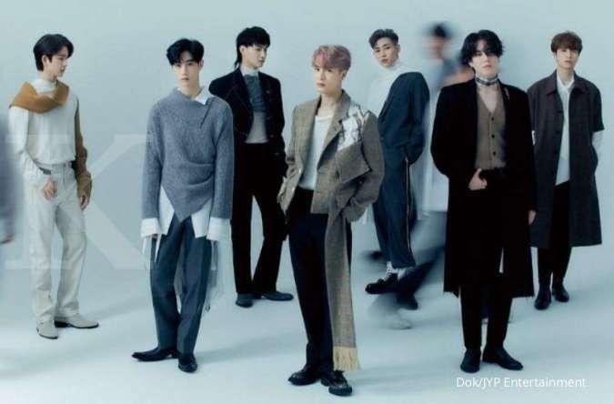 Grup GOT7 yang terdiri dari tujuh member di agensi JYP Entertainment.