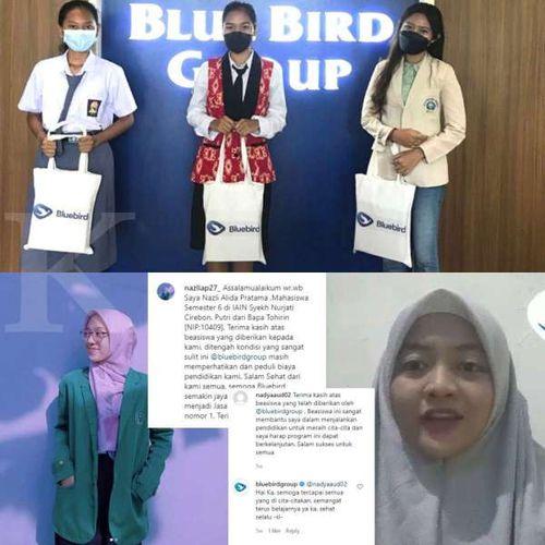 Bluebird Lanjutkan Program Beasiswa kepada Anak Pengemudi & Karyawan di Tengah Situasi Pandemi