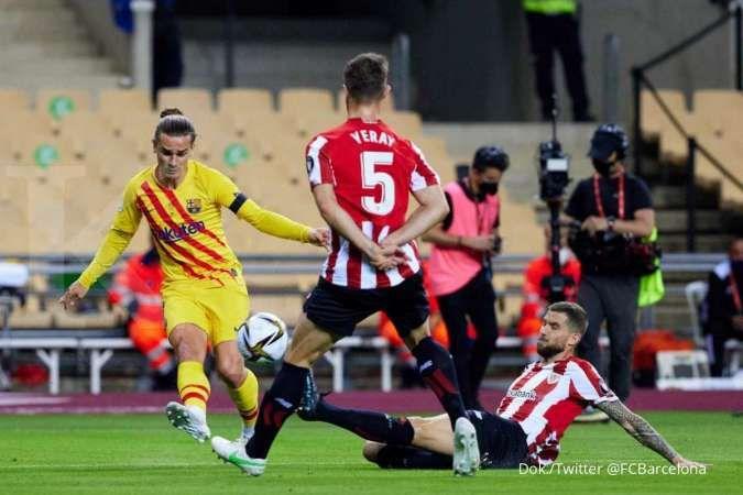 Hasil laga Athletic Bilbao vs Barcelona di final Copa del Rey
