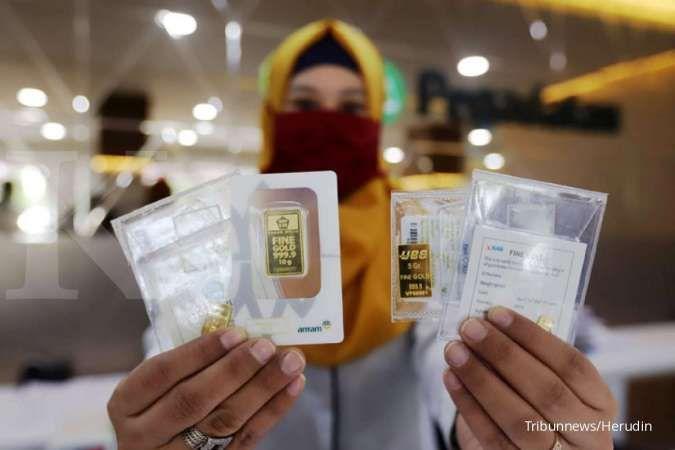 Harga emas Antam di Pegadaian pagi ini Rp 1.105.000 per gram (10 Agustus 2020)