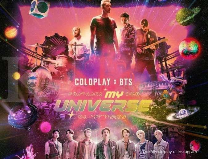 BTS rilis MV My Universe bersama Coldplay dan jadi penyanyi terbaik di September