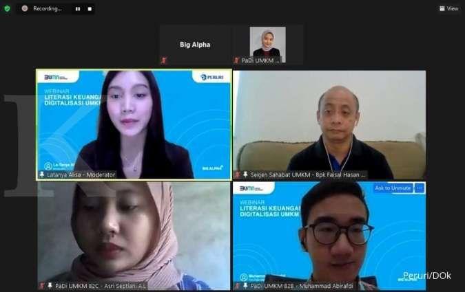 Peruri gelar webinar literasi keuangan dan digitalisasi untuk UMKM
