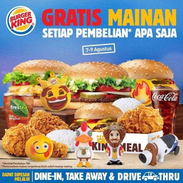 Promo Burger King 7 – 9 Agustus 2020