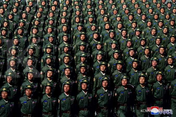 Korea Utara gelar parade militer saat perayaan Kongres Partai Buruh?
