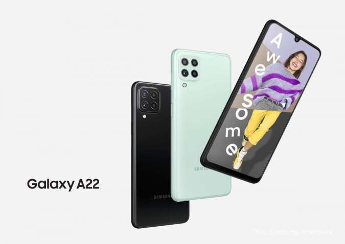 Spesifikasi & harga HP Samsung A22: Quad camera 48MP dan RAM 6GB jadi andalan