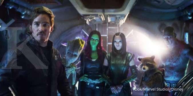 Tim Guardians di film Avengers: Infinity War