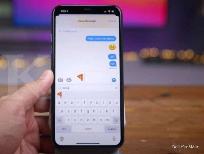 Tampilan Emoji Search pada iOS 14