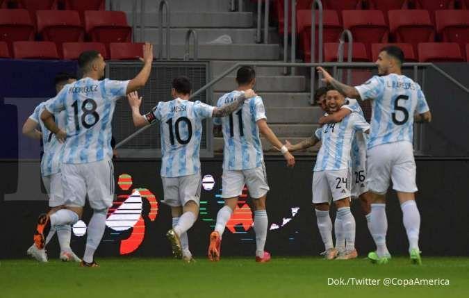 Lionel Messi bersama timnas Argentina di Copa America