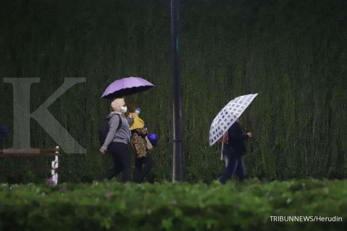 Cuaca hari ini di Jabodetabek hujan, Jakarta Selatan & Timur hujan petir
