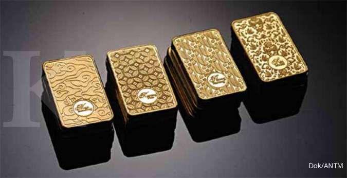 Harga emas Antam naik Rp 4.000 menjadi Rp 916.000 per gram pada hari ini (13/10)