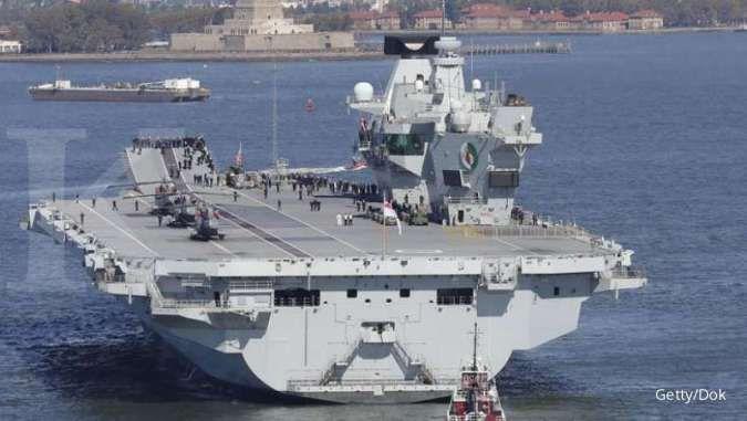 Kirim pesan ke China, kelompok serang kapal induk Inggris menuju Laut China Selatan