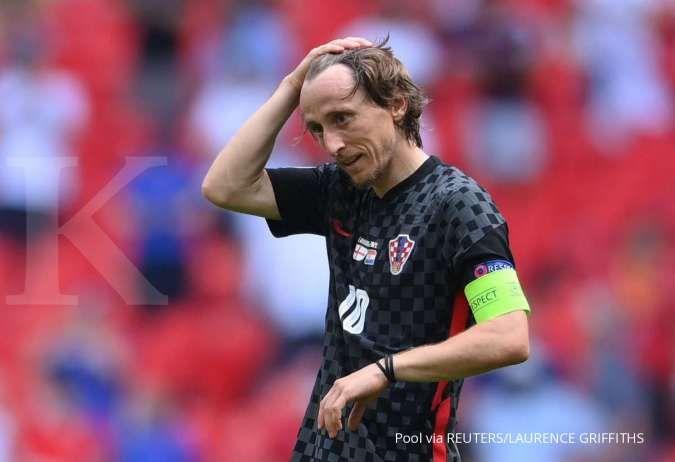 Luka Modric jelanga Kroasia vs Ceko di Euro 2020 Grup D