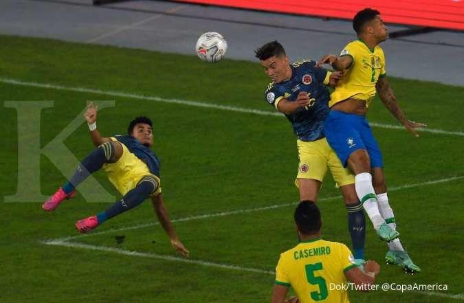 Hasil Copa America 2021 Brasil vs Kolombia di Grup B