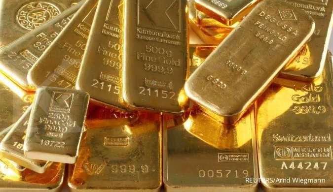 Harga emas berpotensi tertekan, dibayangi data inflasi AS