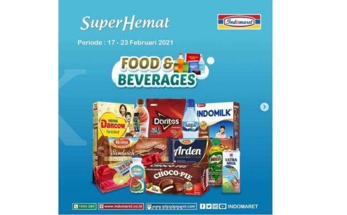 Promo Indomaret terbaru minuman dan makanan, berlaku 17-23 Februari 2021!