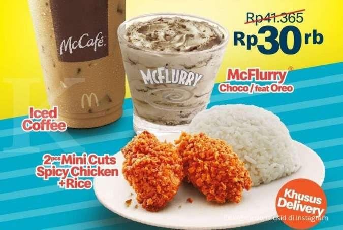 Promo McD 20 September 2021, promo hemat seru hanya Rp 30.000 khusus untuk delivery