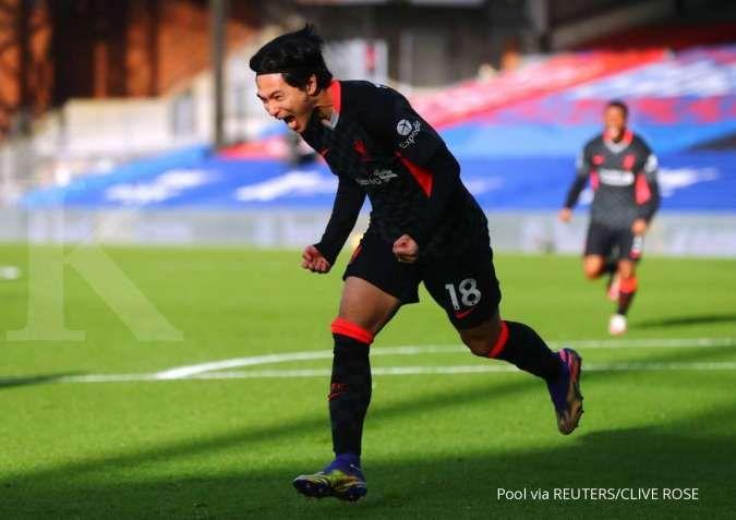 Takumi Minamino akan menjadi starter di laga Aston Villa vs Liverpool pada ajang Piala FA