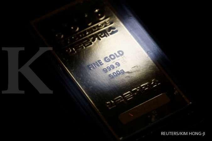 Harga emas merosot ke US$ 1.807 per ons troi, dekati level terendah dalam empat bulan
