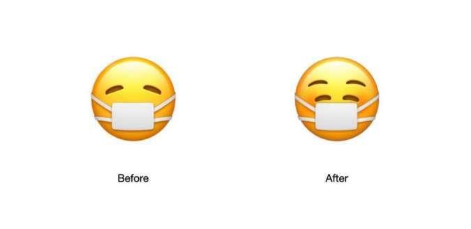 Gemes! Emoji terbaru di iPhone iOS 14 versi beta kenakan masker dengan wajah ceria