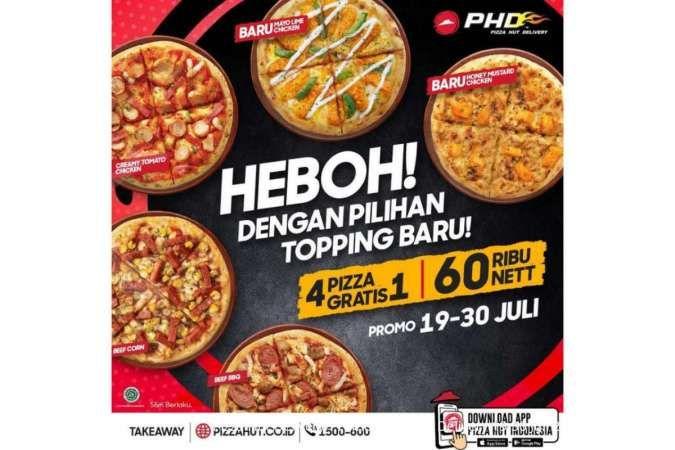 Promo Pizza Hut Delivery hari ini 25 Juli 2021: 5 Pizza Heboh Rp 60.000