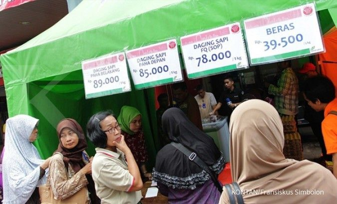 Operasi pasar di Kramatjati jual daging sapi murah