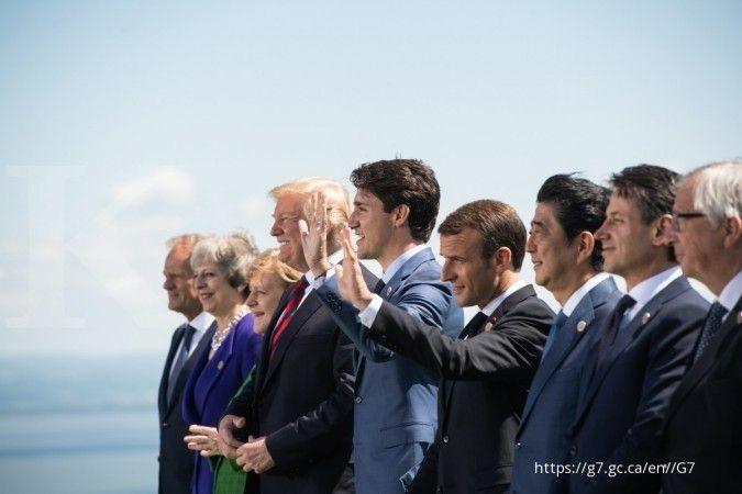 Ketegangan antar pemimpin negara meningkat, pertengkaran meletus pada KTT G7 Prancis
