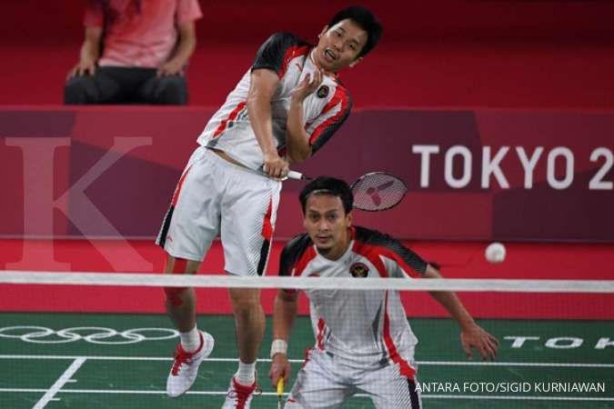 Hasil Badminton Olimpiade Tokyo 2020 ganda putra Mohammad Ahsan/Hendra Setiawan
