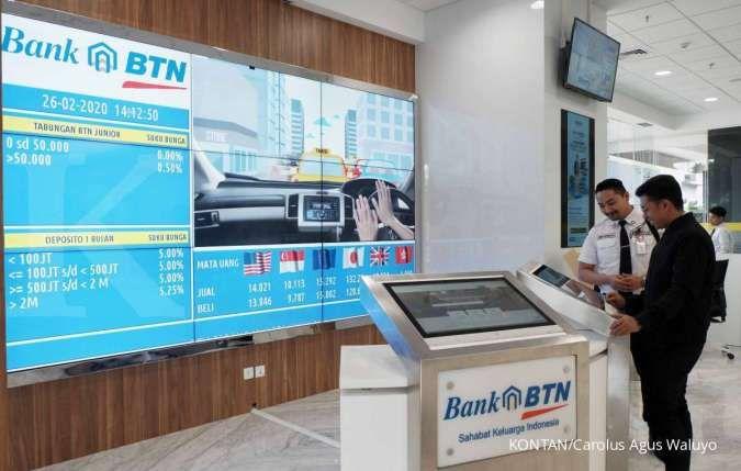 Bunga deposito bank BUMN: BTN 3,75%, Bank Mandiri 3,25%, BRI 3,25%, BNI 3,13%