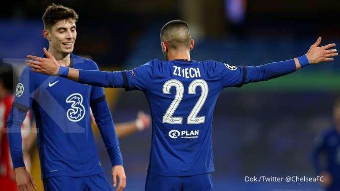 Chelsea vs Atletico Madrid: Menang 2-0, The Blues tekuk 10 pemain Los Rojiblancos