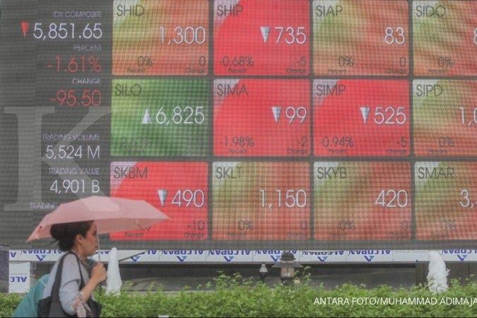 Pasar saham dan nilai tukar Indonesia terburuk di Asia sepekan ini