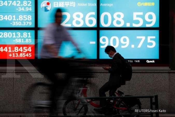 Bursa Asia kompak turun pada Senin (21/6) pagi